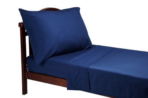 Everything for Kids 3 Piece Toddler Sheet Set, Navy - Kids Toddler Sheet Set