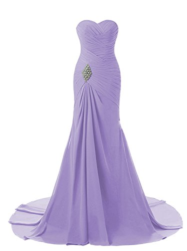 Womens Ball Dresses Wedding FED003 Bridesmaid Formal Evening Mermaid Lavender Prom 2 2018 Long Gowns Lily Party BUFqxwx