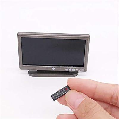 LIOOBO 1:12 Televisión Miniatura Casa de Muñeca TV LED Televisión Hacer emblemático de Juguetes: Amazon.es: Productos para mascotas