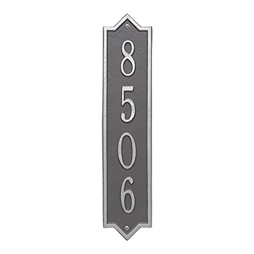 Personalized Norfolk Vertical Wall Plaque (Pewter/Silver) - Norfolk Vertical Wall