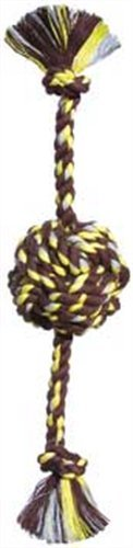 Monkey Fist Rope - Mammoth Flossy Chews Colossal 25-Inch Color Monkey Fist Ball with Rope Ends, Assorted Colors
