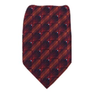 Boys Youth Burgundy Pattern Designer Necktie Ties B-11690