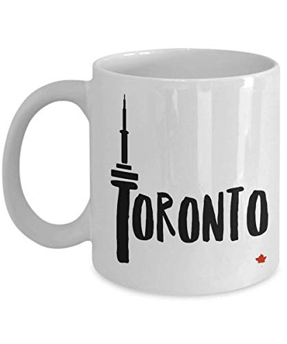 Toronto Mug Travel Leafs Maple (CASURI - Toronto CN Tower Mug Toronto souvenir mug Maple leaf Canada CN Tower Toronto coffee cup Canadian Cute mug Toronto white mug MUG 11ozChristmas, Birthday, Valentines, Mother's Day)
