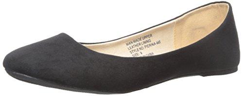 alpine Flats Pierina Ballet Women's swiss Micro suede Black 4rq47