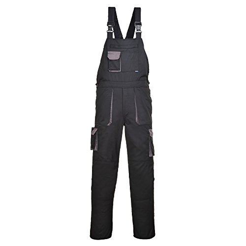 Portwest Contrast Bib & Brace/Workwear (2XL x Regular) (Black/Gray)