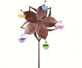 Ferris Feeder Bronze Single Wheel Flower - Exhart Bird Feeder