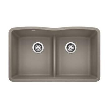 Blanco 441286 Diamond Equal Double Bowl Silgranit Ii Sink