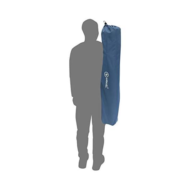 Homecall Letto pieghevole da campeggio colore grigio/blu 5 spesavip
