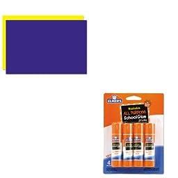 KITEPIE542GEO26829 - Value Kit - Geographics Too Cool Foam Board (GEO26829) and Elmer\'s Washable All Purpose School Glue Sticks (EPIE542)