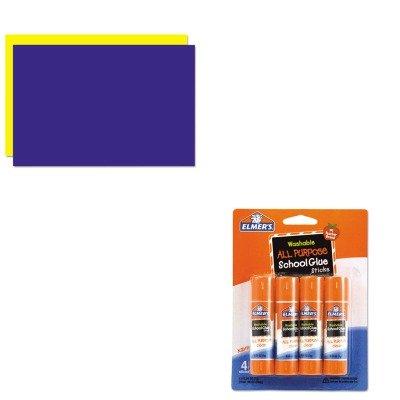 KITEPIE542GEO26829 - Value Kit - Geographics Too Cool Foam Board (GEO26829) and Elmer's Washable All Purpose School Glue Sticks (EPIE542)