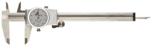 Sharpe Dial Caliper (Brown & Sharpe 75.115811 Dial Caliper, Stainless Steel, White Face, 0-6