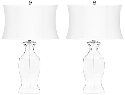 Safavieh Lighting Collection Wendy Glass 27.5-inch Table Lamp (Set of 2)