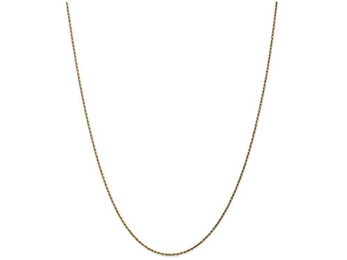 Machine Made Rope Chain (Finejewelers 22 Inch 14k Yellow Gold 1mm Machine-made Rope Chain Necklace)