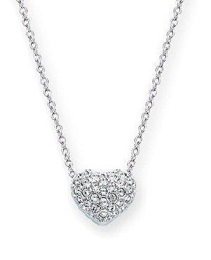 Crystal Pave Heart Necklace (Swarovski Pave Crystal Heart Pendant 1809006)
