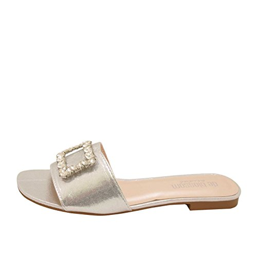 On Silver Evelyn Blossom Slip 21B Embellished Women's Sandals Shimmer 4gxXwqS