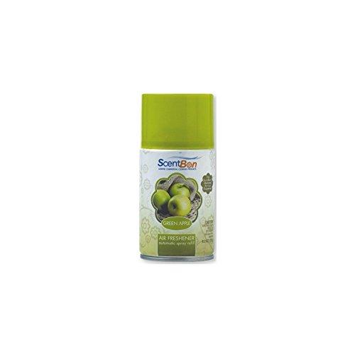 (ScentBon Air Freshener Refill Metered Aerosol Can, Cinnamon, Fresh Linen, Green Apple, Mango, Ocean, Vanilla, Pack of 1 (1, Green - Green Apple Scent) )