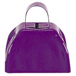 Purple School Cowbells (1 dozen) - Bulk by Fun Express