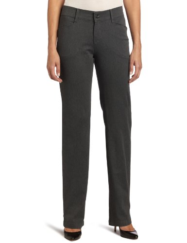 - Lee Women's Relaxed Fit Plain Front Straight Leg Pant, Charcoal Heather, 6 Short