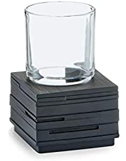 Zeller 18317 Vaso de Enjuague, Poli Resina, Negro, 8.3000000000000007x8.3000000000000007x11.5 cm