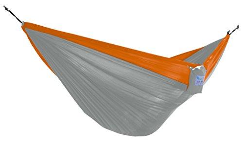 Amazon Lightning Deal 88% claimed: Vivere - PAR16 - Parachute Hammock - Single (Grey/Orange)
