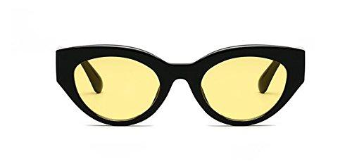 Lennon style soleil inspirées métallique Film du en rond vintage de Jaune polarisées retro cercle lunettes xf8qPXt5wf