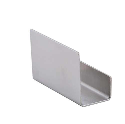Bluelasers Business Card Holder with Full Stainless Steel Body Desktop Card Holder Perfect for Office Business Name Card Organizer