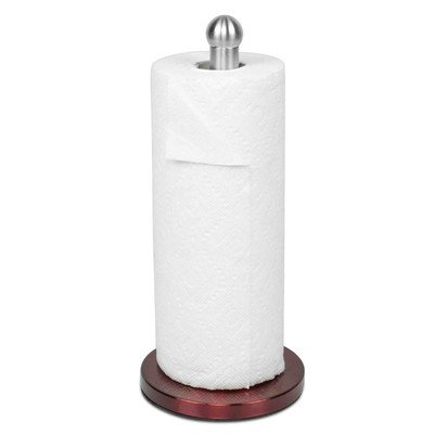 Home Basics Stainless Steel Red Paper Towel Holder