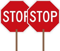 STOP Signs And More 2-Sided Hand-Held Stop Sign - 18x18