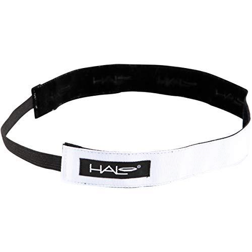 Halo Hairband Headband Sweatband White 1 inch wide