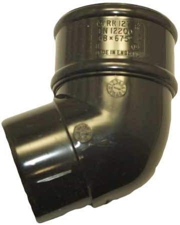Poliducto RR127 negro 112.5deg Es posible curvar juego de fisureros para escalada para 68 mm tubería bajante
