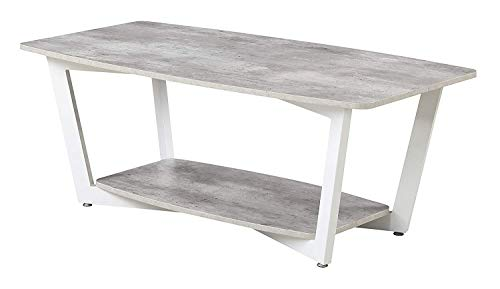 Convenience Concepts 111282GYWF Graystone Stone Coffee Table, Gray/White ()