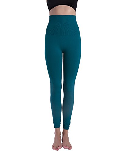 Homma Premium Thick High Waist Tummy Compression Slimming Leggings (Small, F.Teal)