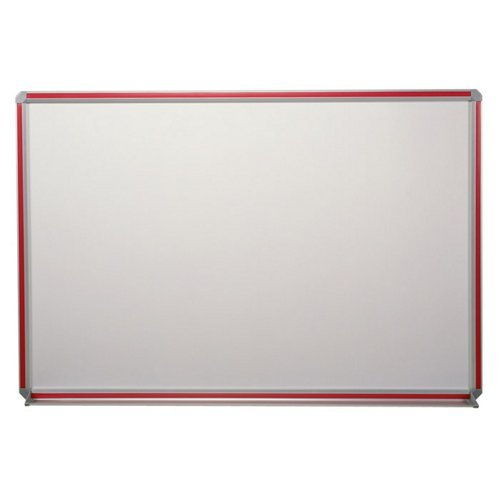 Magnetic Porcelain Markerboard with Inserts 48'' x 48'' Aluminum Frame/Maple Edge by Ghent