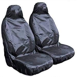 XF F Type X Type S Type XK XJS FSW Heavy Duty Waterproof Car Front Black Seat Covers 1+1 Black HD1+1BLACK13 Fits: E Type XJ XK8 XJSC