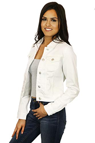 StyLeUp Women's Classic Casual Vintage Denim Jean Jacket/Vest Regular & Plus Size (90017 WH 1X)