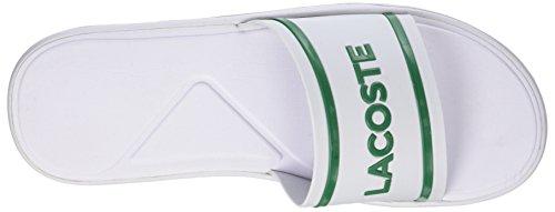 Lacoste Men's L.30 Slide 118 2 Cam Flip Flops White (Wht/Grn) Ejep3