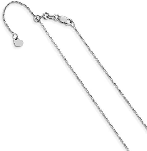 Details about  /Leslie/'s Real 14kt Rose Gold 1.1 mm Flat Cable Chain; 16 inch; Lobster Clasp
