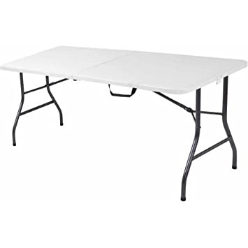 Cosco 6 Centerfold Table Multiple Colors White