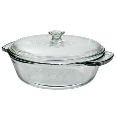 Anchor Hocking Cookware: Pyrex Clear Glass Covered Casserole