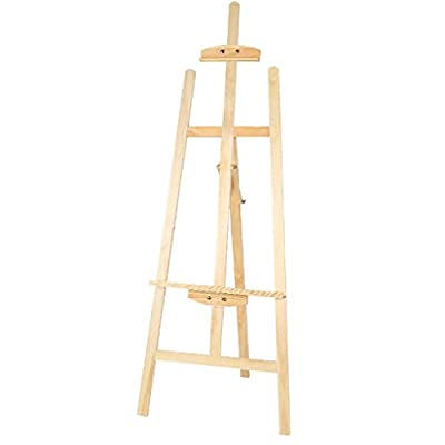 painting easel 1.45 M Pine Painting Frame Sketch Frame Wooden Pallet Rack Advertising Display Stand Racks Multi-color Optional easels