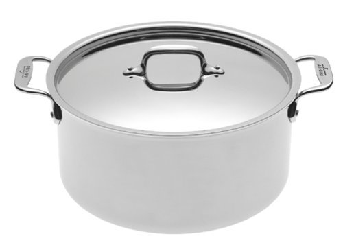 All-Clad 5508 Stainless Steel Stockpot Cookware, 8-Quart, Silver ()