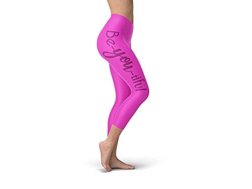 Yoga Be-you-tiful In Black High Waist Compressed Capri Leggings by Sobeme