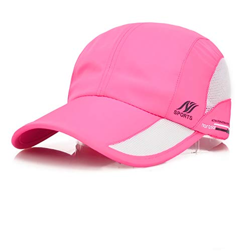 - Sport Cap Summer Quick Drying Sun Hat UV Protection Outdoor Cap for Men, Women Pink/Black