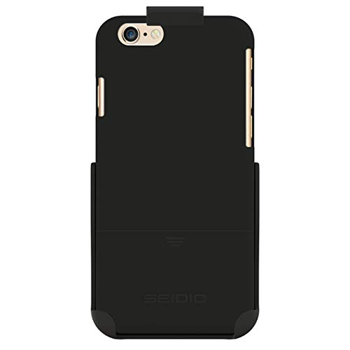 Seidio SURFACE Case & Belt-Clip Holster for iPhone 6 ONLY [Slim Protection] - Retail Packaging - Black (Renewed)