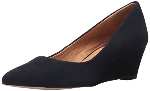 Opportunity Shoes - Corso Como Women's Nelly Pump, Navy Kid Suede, 8.5 Medium US - Kid Suede Pumps