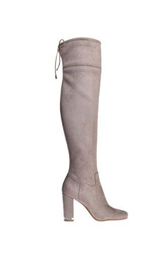 218c79aca36 Michael Kors Jamie OTK High Heel Stretch Suede Boot - Dark Dune ...