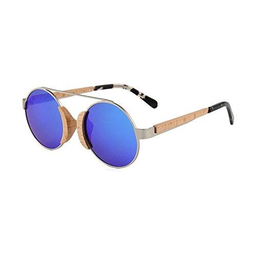 Shop de madera de gafas gafas sol sol metal madera de Uno bambú de de de sol Gafas polarizadas de de 6 Gafas mujer r8P0wr7