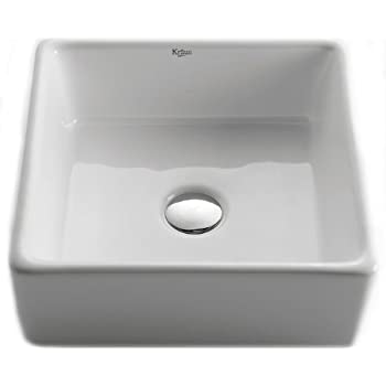 Kraus Kcv 120 Ch Ceramic Undermount Square Bathroom Sink