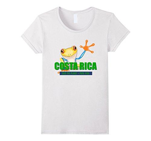 Womens Costa Rica Tree Frog Souvenir T-shirt Medium White