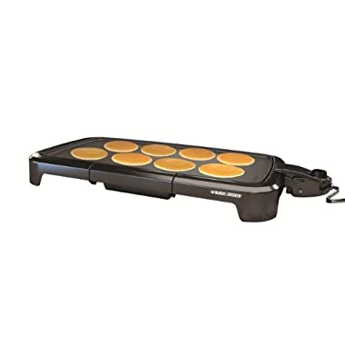 BLACK+DECKER GD2011B Family Size Griddle, Black